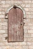 De muur van de steen met deuren Royalty-vrije Stock Foto's
