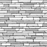 De muur van de steen. Naadloze vector. Stock Afbeelding