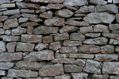 De muur van Drystone - Kalksteen Royalty-vrije Stock Foto