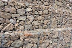 De Muur van Gabion stock foto's