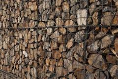 De muur van Gabion Stock Fotografie