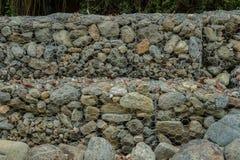 De muur van Gabion Stock Afbeelding