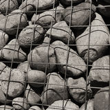 De Muur van Gabion (close-up) Royalty-vrije Stock Afbeelding