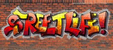 De muur van Graffiti stock afbeeldingen