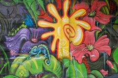 De muur van Graffiti Royalty-vrije Stock Afbeelding