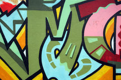 De muur van Graffiti Stock Fotografie