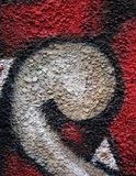 De muur van Graffiti Stock Foto