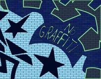 De Muur van Graffitti Stock Afbeeldingen