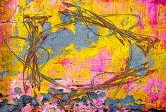 De muur van Grunge, hoogst gedetailleerde geweven achtergrond Stock Fotografie
