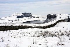 De Muur van Hadrians in de winter Royalty-vrije Stock Afbeelding