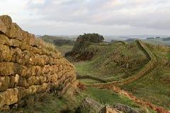 De Muur van Hadrians, dichtbij Housesteads Royalty-vrije Stock Afbeeldingen