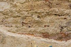 De muur van het baksteencement Stock Foto's