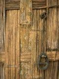 De muur van het bamboe royalty-vrije stock afbeeldingen