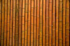 De muur van het bamboe/bamboehuis Stock Foto