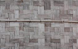 De muur van het bamboe van huis Stock Afbeeldingen