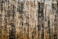 De muur van het cement imiteert hout Stock Foto