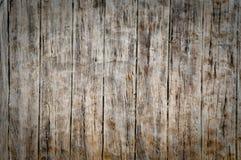 De muur van het cement imiteert hout Stock Afbeelding