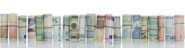 De muur van het geld, geldgrens Royalty-vrije Stock Afbeeldingen