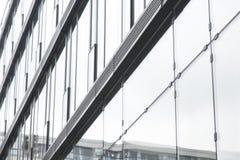 De muur van het glas van de bureaubouw Royalty-vrije Stock Afbeeldingen