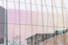 De muur van het glas van de bureaubouw Royalty-vrije Stock Fotografie