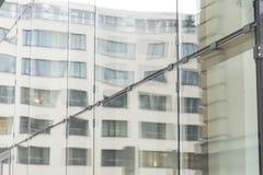 De muur van het glas van de bureaubouw Royalty-vrije Stock Foto