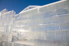 De muur van het ijs Royalty-vrije Stock Afbeeldingen