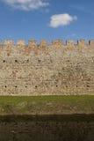 De Muur van het kasteel Stock Afbeeldingen