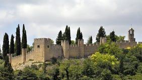 De muur van het kasteel in Portugal royalty-vrije stock fotografie