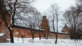 De muur van het Kremlin royalty-vrije stock foto
