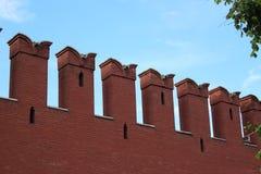 De muur van het Kremlin royalty-vrije stock fotografie