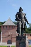 De muur van het Kremlin, Toren van Conceptie en Peter Groot monument i royalty-vrije stock foto