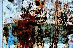 De muur van het metaal. Stock Afbeelding
