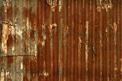 De muur van het metaal Stock Afbeeldingen