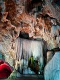 De muur van het plafond & van de stalactiet Stock Fotografie