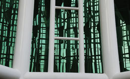 De muur van het scherm van glas Royalty-vrije Stock Foto's