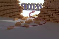 De muur van het succes Stock Foto
