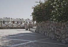 De muur van het terras en van de rots in stad Stock Fotografie