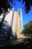 De Muur van het Water van Houston Stock Foto's