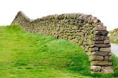 De muur van het zandsteen Stock Afbeeldingen