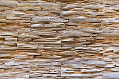 De muur van horizontale lange witte steen Royalty-vrije Stock Fotografie