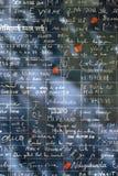De Muur van I houdt van u in Parijs Stock Fotografie