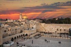 De muur van Jeruzalem Israel Wailing Royalty-vrije Stock Afbeeldingen
