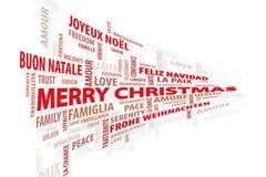De muur van Kerstmis van woorden Royalty-vrije Stock Foto's