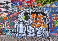 De muur van Lennon in Praag royalty-vrije stock fotografie