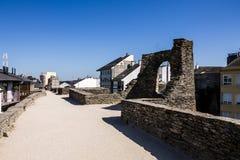 De muur van Lucusaugusti roman stock afbeeldingen