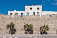 De muur van Medina in Safi, Marokko stock fotografie