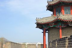 De muur van Ming Dynasty, Huludao, Liaoning, China, Xingcheng, China Stock Afbeelding