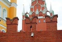 De muur van Moskou het Kremlin Stock Foto's