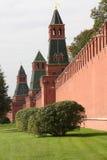 De Muur van Moskou het Kremlin Stock Foto