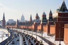De muur van Moskou het Kremlin royalty-vrije stock foto